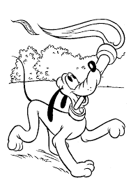Small Picture Pluto Coloring Pages