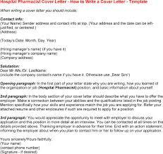 hospital pharmacist cover letter sample for pharmacist cover letter pharmacist cover letter sample