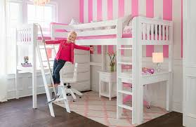 girls full size loft bed with desk and