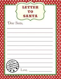 Free Letter From Santa Word Template Party Craft Letter To Free Printable Kids Ideas Template