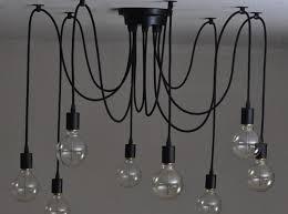 morder edison bulb chandelier lighting 3 6 8 12 arm e27 lampholder adjule diy spider shape