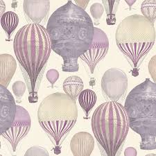 Ideco Home Laurent Pink & Purple Hot Air Balloon Wallpaper | Departments |  DIY at B&Q