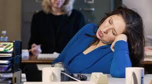falling asleep at desk gif