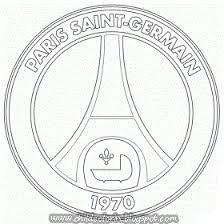 Paris Saint Germain Logo Sketch Coloring Page