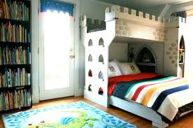 Modern Boys Bedroom With A Castle Bunk Bed