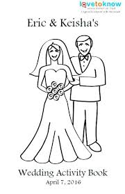 wedding coloring book template printable activity for kids pages acti