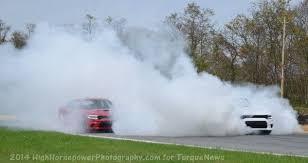 dodge charger hellcat burnout.  Charger Monstrous Dodge Charger Hellcat Burnout With Three Cars At One Time   Torque News For U