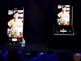 Samsung Smartphone Design Samsung New Vertical Folding Phone Design Ubergizmo