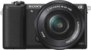 sony a5100. sony - alpha a5100 mirrorless camera with 16-50mm retractable lens black front_standard 0