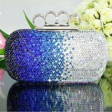 Royal blue crystal Beaded <b>NEW Fashion</b> Exquisite Evening Bag ...