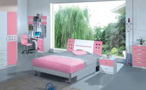 Paint Color For Teenage Bedroom Amusing Girls Teenage Bedroom Design With White Wall Paint Color