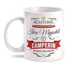 Camping Küchenbedarf Emaille Becher Tasse Scheiß Muss Ich Festival