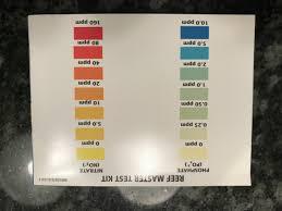 Api Phosphate Chart Api Reef Master Color Cards Anyone Reef2reef Saltwater