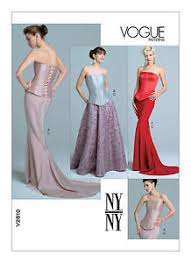 Mermaid Skirt Pattern Unique VOGUE NY NY V48 EVENING PROM CORSET BUSTIER TOP MERMAID SKIRT