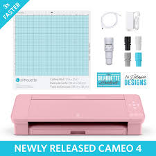 Cricut Design Studio Update Firmware Silhouette Cameo 4 With Bluetooth 12x12 Cutting Mat Autoblade 2 100 Designs And Silhouette Studio Software Pink Edition