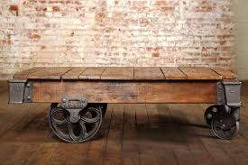 vintage industrial lineberry cart coffee table additional similar available in other sizes