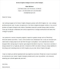 Design Cover Letter Examples Graphic Design Cover Letter Sample