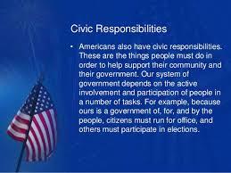 personal and civic responsibilities civic responsibilities