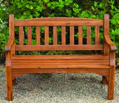 2 seater clivedo garden bench in natural finish