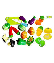 es ko multicolour realistic sliceable vegetables cutting play toy set with velcro