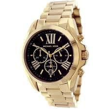 michael kors watches overstock com the best prices on designer michael kors women s bradshaw goldtone chronograph black dial watch