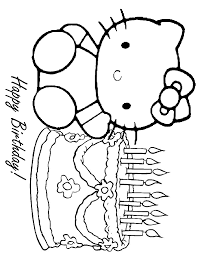 Princess Hello Kitty Coloring Pages Within Birthday - glum.me