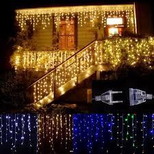 Đèn Trang Trí Ngoài Trời Rèm Led 5M Droop 0.4-0.6M Icicle Đèn Dây Đèn Đèn  Trang Trí Tiệc Giáng Sinh Trong Vườn