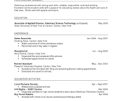 Coverer Vet Tech Veterinary Assistant Resume Samples Format