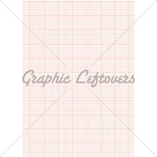 Graph Paper A4 Sheet Red Gl Stock Images