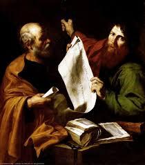 san pietro e le Cattedrale di St Paolo - Jusepe De Ribera (Lo Spagnoletto)  | Wikioo.org – L'Enciclopedia delle Belle Arti