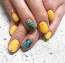Lottie Nail ロティネイル こういう色合いの大理石ネイルも夏らしくて