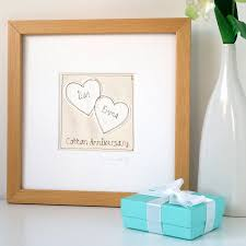 original personalised wedding anniversary picture framed cotton cotton weddingary gifts ideas