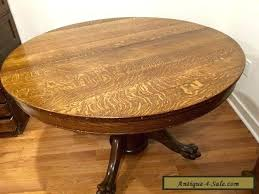 claw foot dining table antique large oak round dining table with claw feet for claw