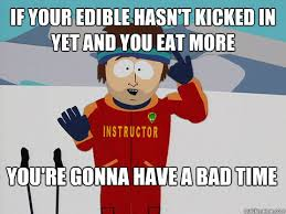 if your edible hasn't kicked in yet and you eat more You're gonna ... via Relatably.com