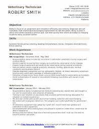 Veterinary Resumes Veterinary Technician Resume Samples Qwikresume