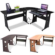 home office furniture corner desk. new lshape designer computer corner desk pc study table home office furniture ebay
