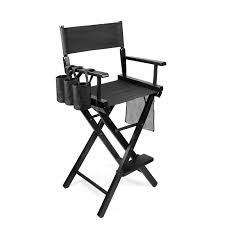 professional makeup chair artist directors actor wood stool light weight bar height seat foldable with storage