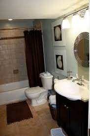 ... Enchanting Design For Decorating A Small Bathroom Inspiration Ideas :  Astonishing Cream Polished Marble Tile Flooring ...