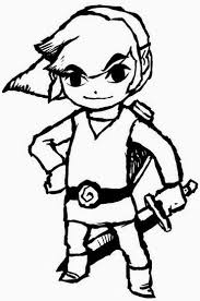 Link And Zelda Coloring Pages For The Home Coloring Pages