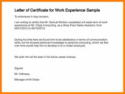 11 Certificate Letter Example Weekly Template