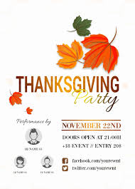 Free Thanksgiving Templates For Word 23 Free Thanksgiving Flyers Psd Word Templates Demplates