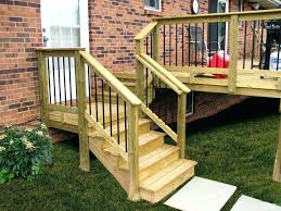 Outdoor Railings For Steps Awesome Exterior Stair Rails Stairs Stunning Step  Railing Intended 14 ...