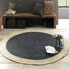 bordered round jute rug slate west elm circular kitchen rugs