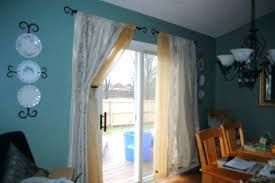 curtains rods for doors good patio door curtain and best ideas on sliding glass plans what size rod