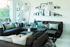 Turquoise Black And White Living Room Ideas Centerfieldbar Com