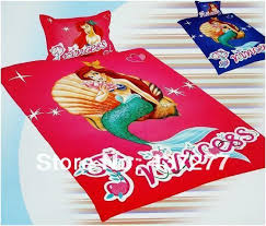 the little mermaid bedding quilt bed set twin cotton bedclothes bed cover coverlet 3d princess comforter set 4 high quality bed comforte china cover rim