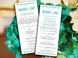 wave modern typography wedding program microsoft word template sea green and grey wedding ceremony program printable wedding program