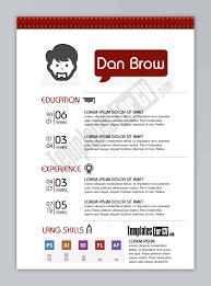 graphic design resume template simple portray designer preview