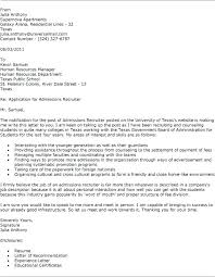 Cover Letter To A Recruiter Directory Resume