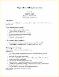 No Experience Resume Examples Flight Attendant Cv Basic Job